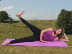 Pilates side kicks resistance