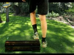 Beenspieren kniestabiliteit afstapje zijwaards