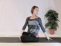Yoga rug-oefening
